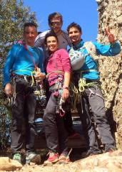 Amb en Damià Santiveri, na Sílvia Giner i en Ramon Gisbert