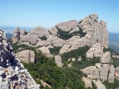 Perspectiva des del cim de la Roca d'en Guillot