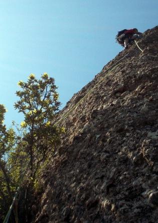 3er. Llarg. Verticalitat i bona roca