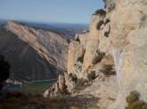 Vista de la Paret d'Aragó, des del final de la via